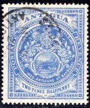 Antigua #34, Used, CV $19   ........   0260030