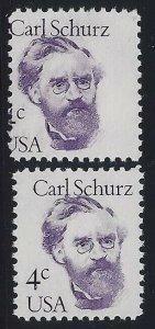 1847 - 4c Huge Misperf Error / EFO Change of Design Carl Schurz Mint NH