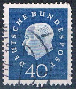 Germany 796 Used President Heuss 1959 (G0443)