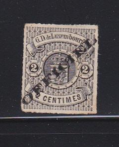 Luxembourg O2 Signed MNG Official Stamp, Coat of Arms