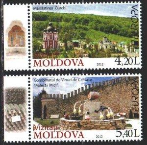Moldova. 2012. 793-94. Tourism, monastery, europe-sept. MNH.