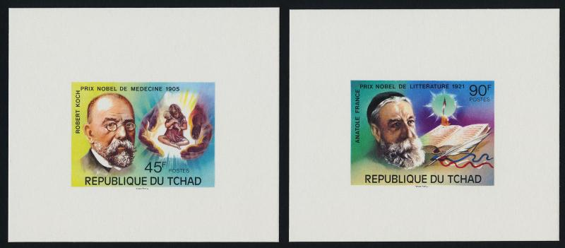 Chad 316-7, C196-8 Deluxe Sheets MNH Nobel Prize Winners, Medicine