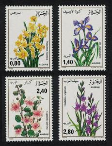 Algeria Flowers 4v SG#941-944