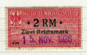 GERMANY; 1920 issue fine used early value, 2RM early Revenue