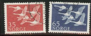 Norway Scott 353-54 used 1956 stamp set