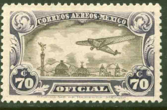 MEXICO CO15, 70cents Air Official. MINT, NEVER HINGED. F-VF..