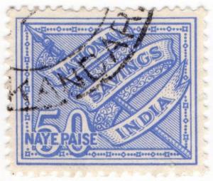 (I.B) India Revenue : Post Office National Savings 50np