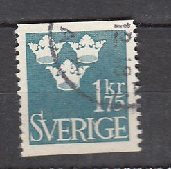 J26400  jlstamps 1948 sweden hv of set used #398, three crowns