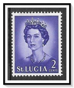 St Lucia #183 QE II MH