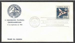 Costa Rica Airmail # C338 Philatelic Convention FDC - I Combine S/H