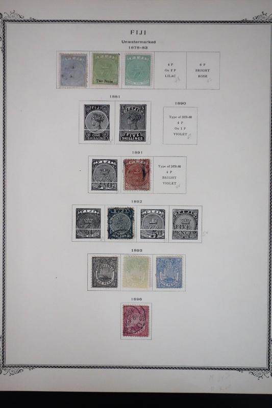 Fiji 1800's to 1960's Stamp Collection