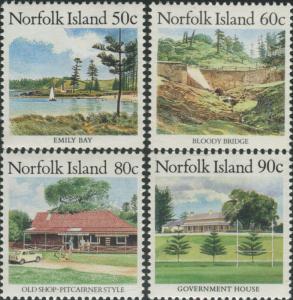 Norfolk Island 1987 SG413-416 Scenes MNH