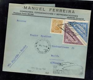 1932 Paraguay Graf Zeppelin Cover to Berlin Germany LZ 127 Private Cachet