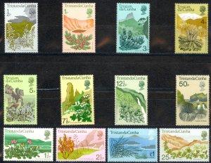 Tristan Da Cunha Sc# 162-173 MNH 1972 Native Flora