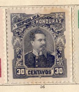 Honduras 1891 Early Issue Fine Mint Hinged 30c. 094309