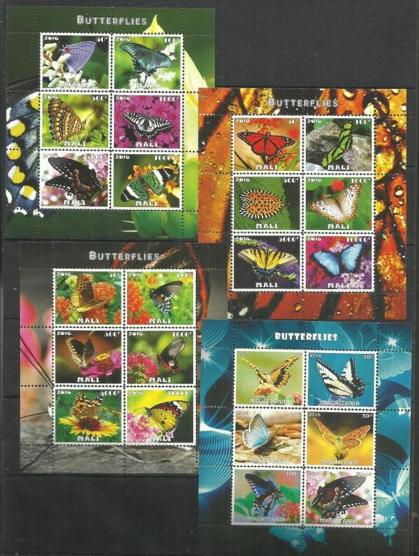 Nature  Animals Insects Butterflies  Perf.. - 2016  (pr.issue) FG4