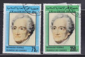 Comoro Islands 549-550 Johannes von Goethe 1982