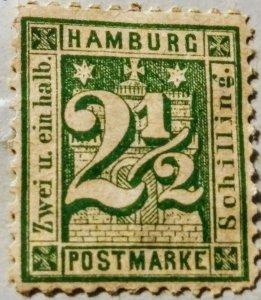 Hamburg 9  unused  F cv  $192.00