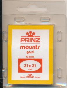 Prinz Stamp Mounts Size 31 / 31 CLEAR Pack of 40