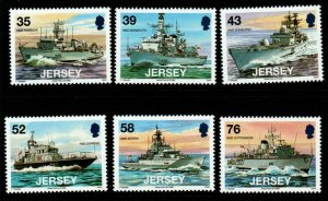 JERSEY SG1380/5 2008 NAVAL CONNECTIONS MNH
