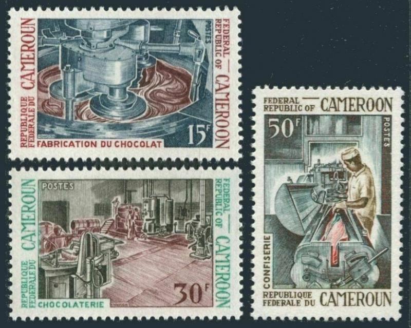 Cameroun 489-491,MNH.Michel 566-568. Chocolate Industry,1969.