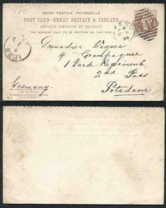 CP18a 1d + 1d Brown Foreign Reply Card Format CF6 Stamp L4 Used Derby Cancel