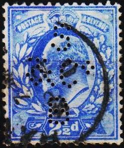 Great Britain. 1902 2 1/2d(Perfin SB&Co) S.G.231 Fine Used