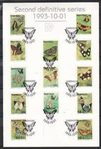 Namibia, Scott cat. 742-754. Butterfly Definitive set. First Day Folder.