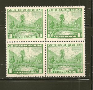 Chile 328 Maule River Valley Block of 4 MNH