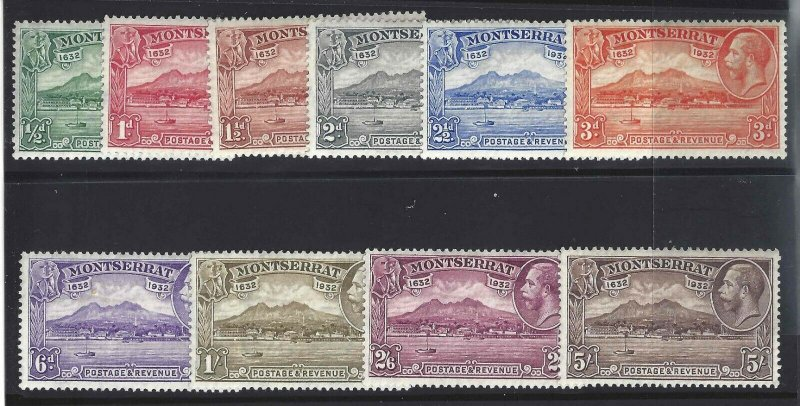 Montserrat 1932 SC 75-84 Mint SCV$ 194.00 Set