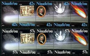 HERRICKSTAMP NIUAFO'OU (TIN CAN ISLAND) Sc.# 64-65 Halley's Comet Stamps