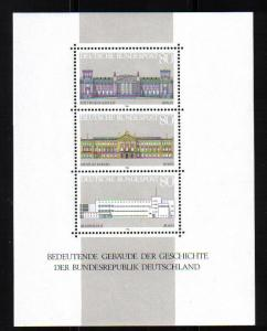 Germany  1986  MNH  Important buildings sheet