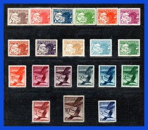 1925 - 1930 - Austria - Sc.  C 12 - C 31 - MNH - Gran Lujo - AU- 32 - 01