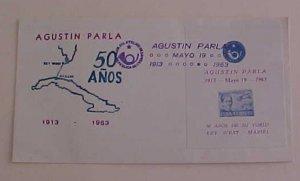 CUBA   FDC SHEETLET 19 MAY 1963 CACHET UNADDRESSED
