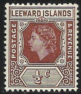 Leeward Islands 1954 Scott# 133 MH