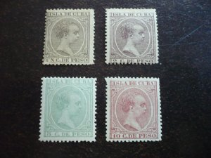 Stamps - Cuba - Scott# 132,137,145,148 - Mint Hinged Partial Set of 4 Stamps