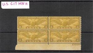 Lot of 17 U.S. MNH Mint Airmail Stamps Scott # C17, C61, C64b #140016 X R