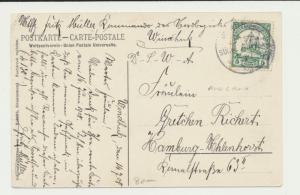 GERMAN SOUTH WEST AFRICA 1908 CARDAM KIRIIS'FLUSS WINDHUK TO HAMBURG(SEE BELOW