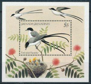 [108813] Grenada Grenadines 1984 Birds vögel Fork-tailed Flycatcher Sheet MNH