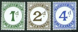 GIBRALTAR  Scott J1-3 MH* 1956 Postage Due set