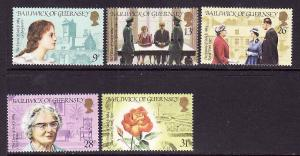 Guernsey-Sc#274-8-unused NH set-Biographical scenes 1984-