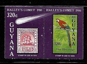 GUYANA 1461 MNH HALLEY'S COMET PAIR 1986