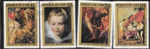 Ivory Coast #451-454   Paintings set complete   (U) CV $3.45