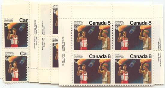 Canada - 1976 8c Olympic Torch X 20 Blocks VF-NH #681