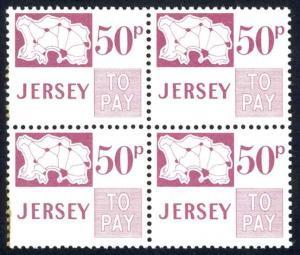 Jersey Sc# J20 MNH Block/4 Postage Due 1971-1975 50p Postage Due