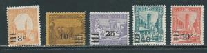 Tunisia 115-9 1928 Surcharges set NH