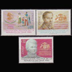 CHILE 1982 - Scott# 616-8 New Const. Set of 3 NH
