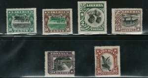 Liberia #104a / #O67a #O68 Variety Mint Inverted Centers