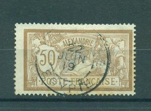 French Offices Egypt Alexandria sc# 27 used cat val $3.00