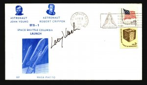 Lary Veach 1981 Signed Columbia Shuttle Space Cover - Z19107
